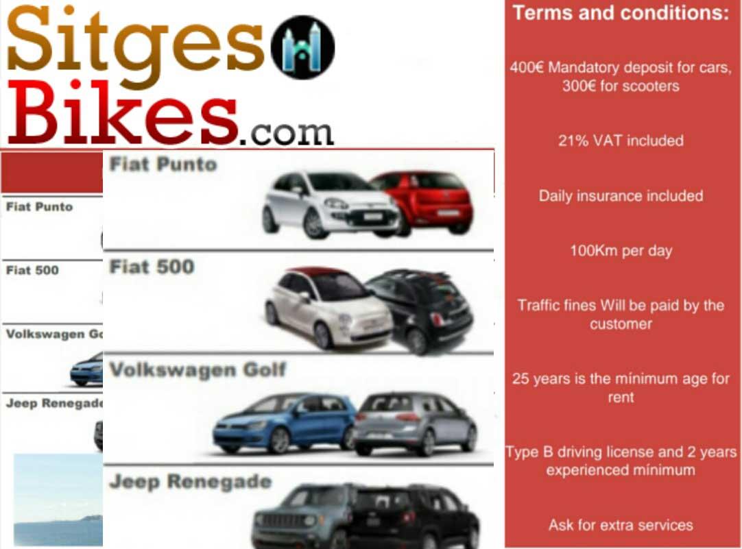 Sitges car auto hire barcelona
